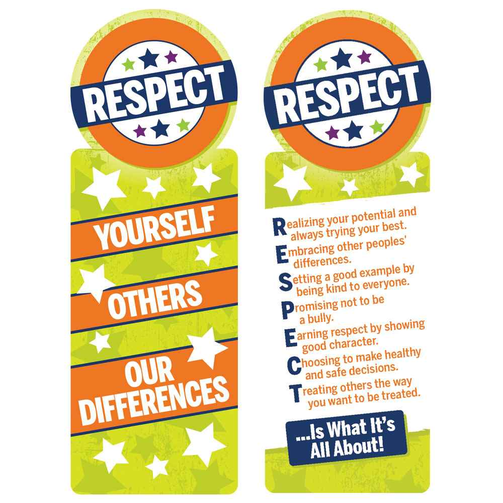 Respect Yourself, Others, Our Differences Bookmarks - Pack of 100