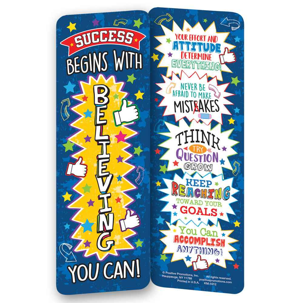 Success Begins With Believing You Can! Bookmarks - Pack of 25