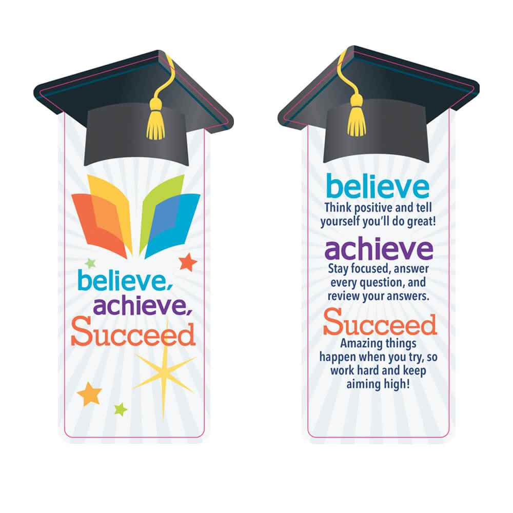 Believe, Achieve, Succeed Bookmarks - Pack of 25