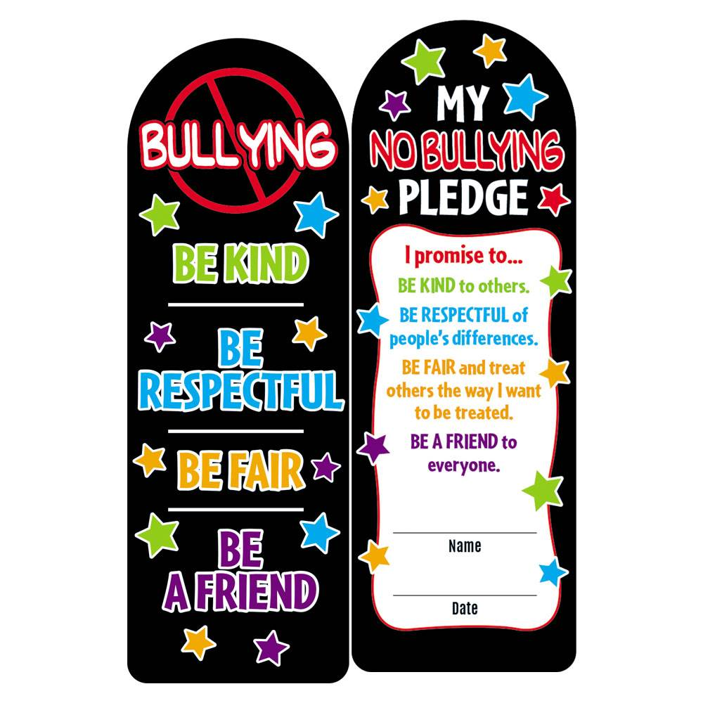 No Bullying Die-Cut Bookmark