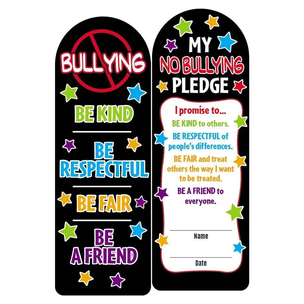 No Bullying Die-Cut Bookmark