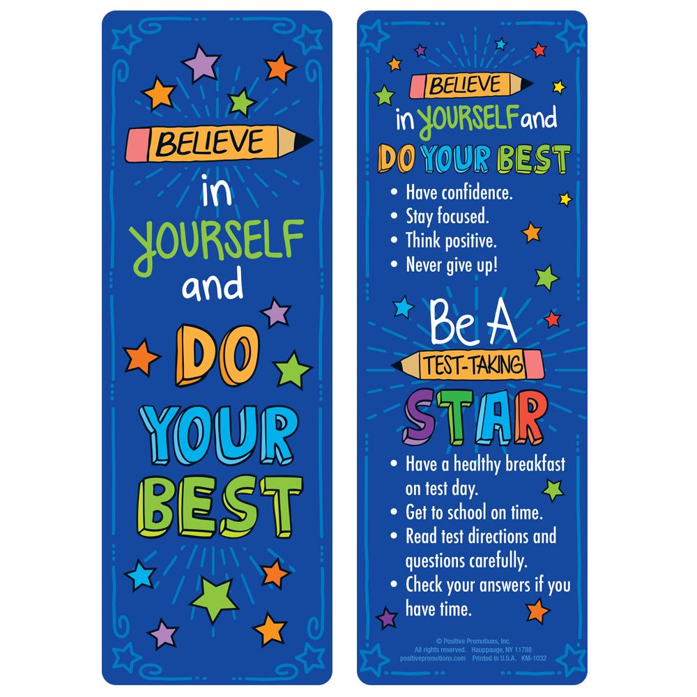 Believe In Yourself And Do Your Best Bookmarks - Pack of 25
