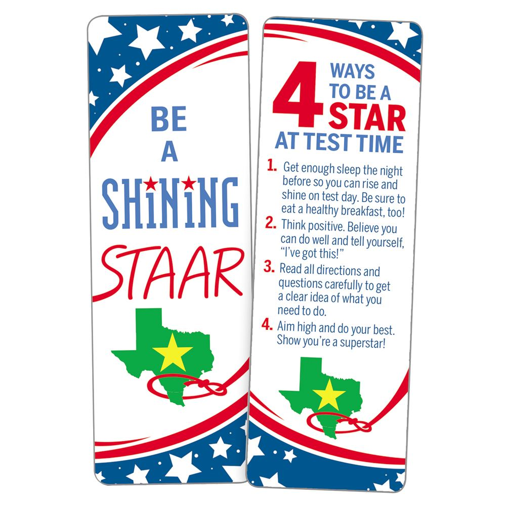 Be a Shining STAAR Bookmarks - Pack of 25