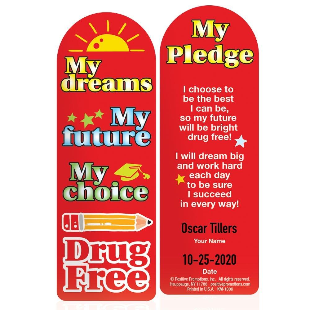 My Dreams, My Future, My Choice, Drug Free Die-Cut Bookmark - 100 Per Pack