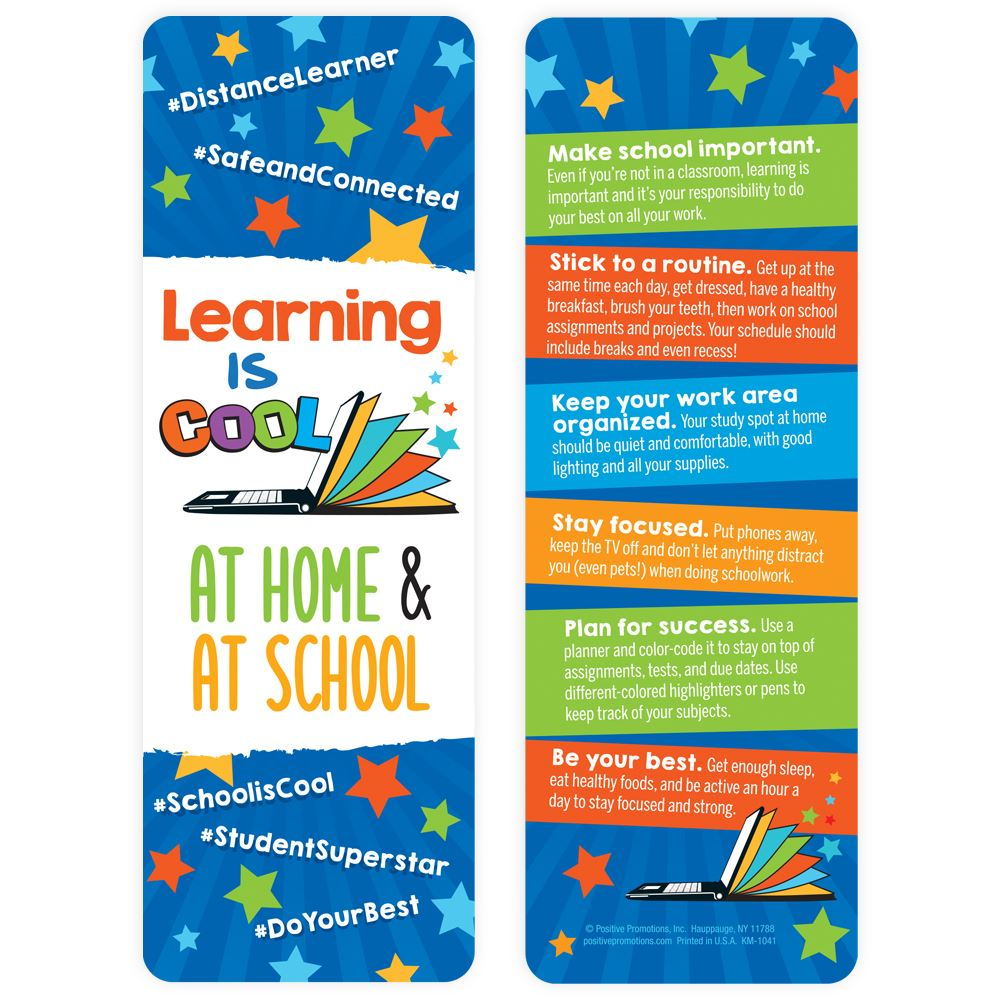 Learning Is Cool At Home & At School Bookmark - 25 Per Pack