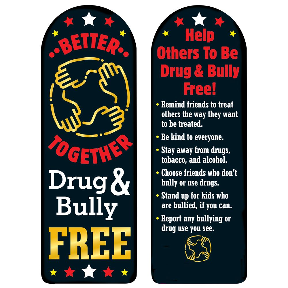 Better Together: Drug & Bully Free Die-Cut Bookmark - Pack of 100