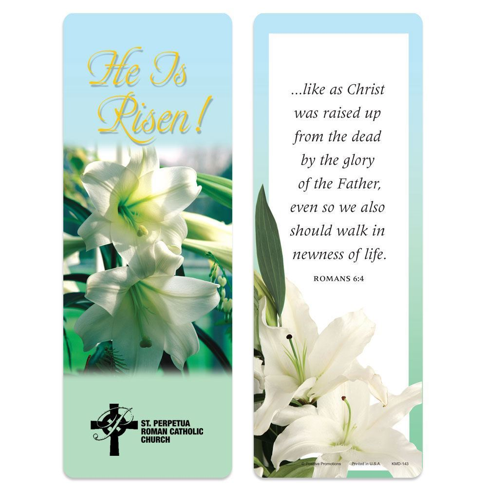 He Is Risen Deluxe Bookmark - Personalization Available