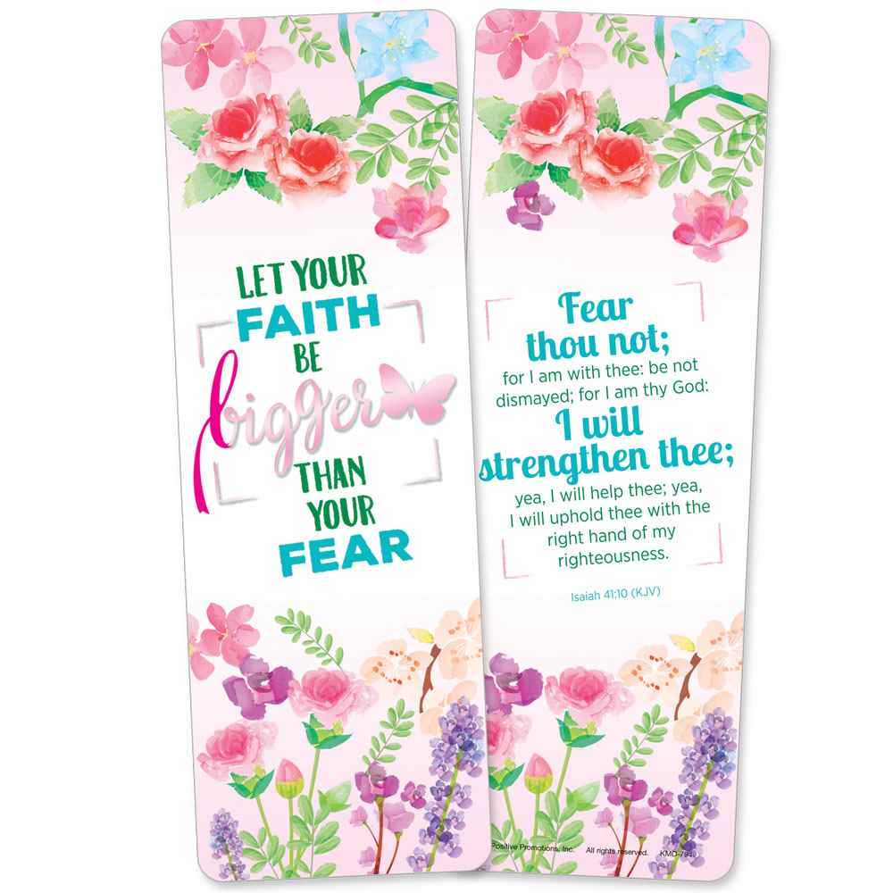 Let Your Faith Be Bigger Than Your Fear Deluxe Foil-Stamped Bookmark