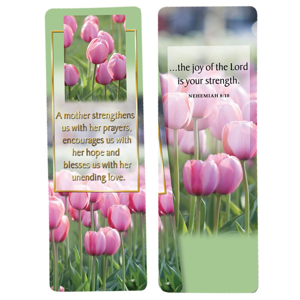 A Mother Strengthens Us With Her Prayers Deluxe Bookmark - Pack of 15