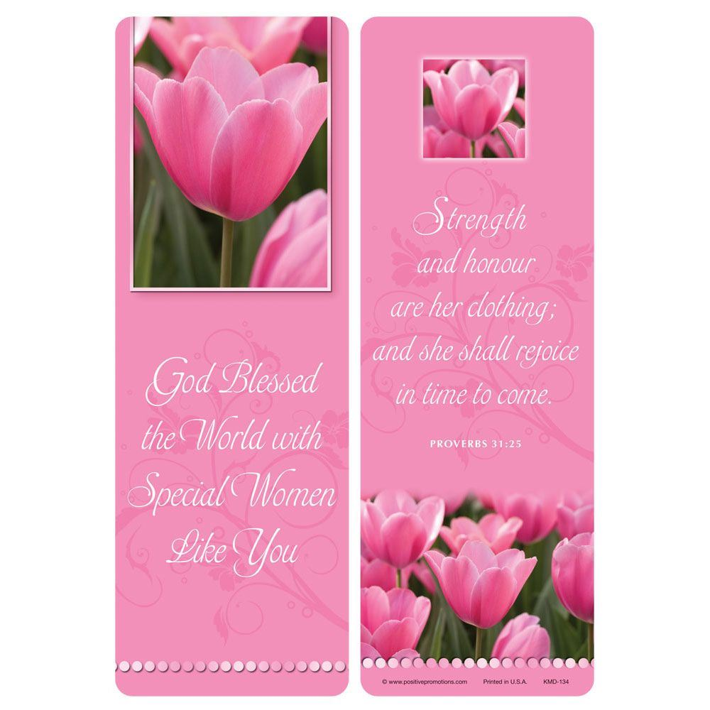 God Blessed The World With Special Women Like You Deluxe Bookmark - Pack of 15
