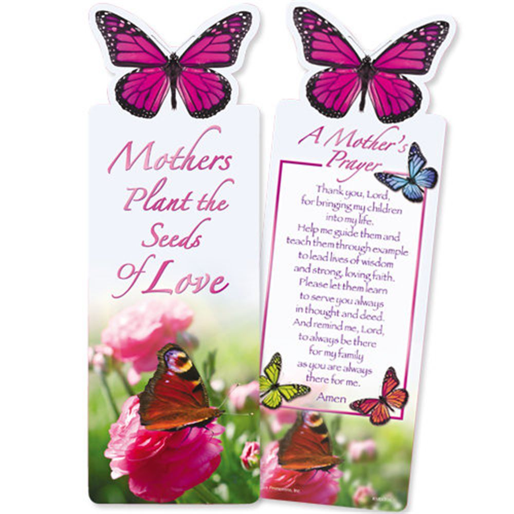 Mothers Plant The Seeds of Love Deluxe Die-Cut Bookmark - Pack of 15