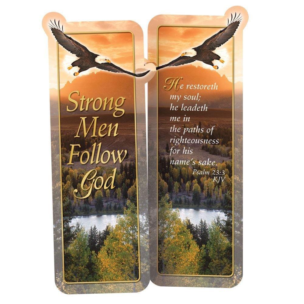 Strong Men Follow God Deluxe Die-Cut Bookmark