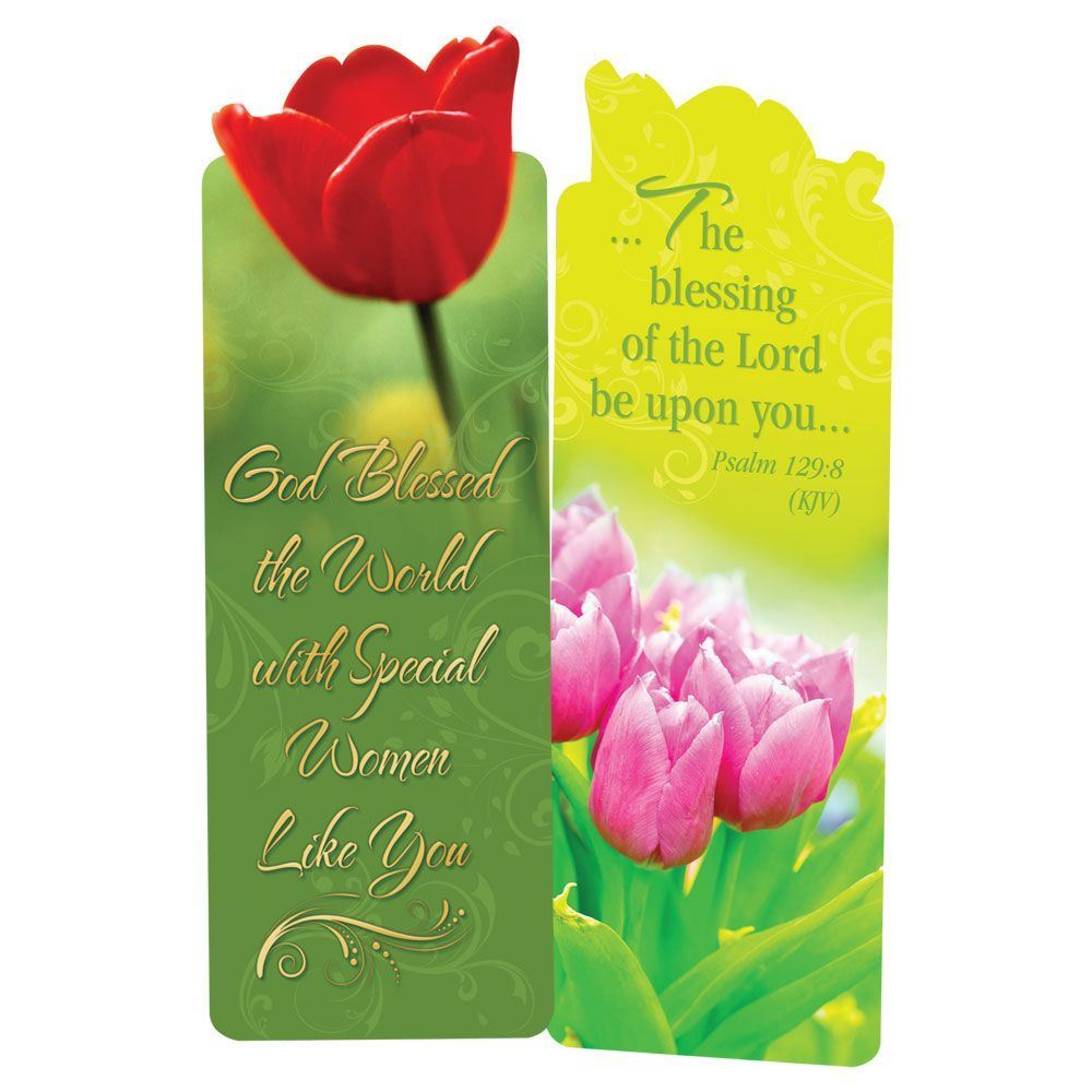 God Blessed The World With Special Women Like You Die-Cut Bookmarks - Pack of 15