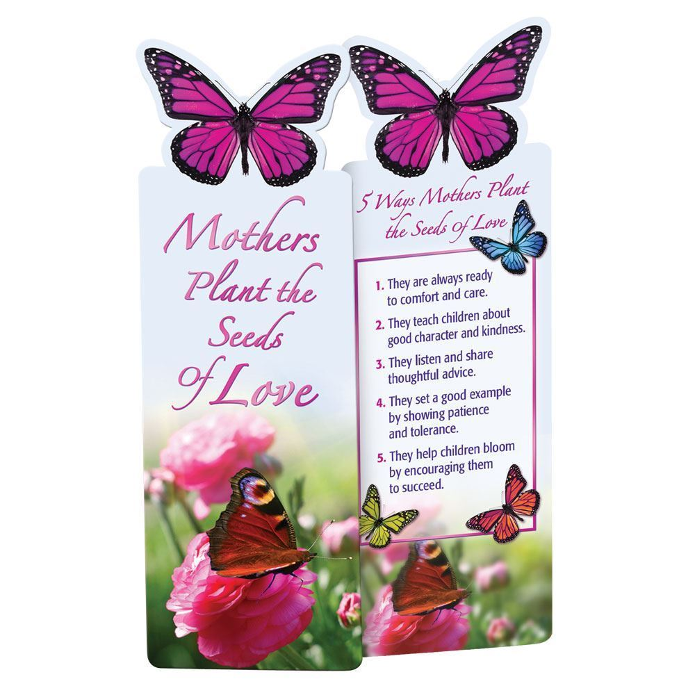 Mothers Plant The Seeds of Love Deluxe Die-Cut Bookmarks - Pack of 15