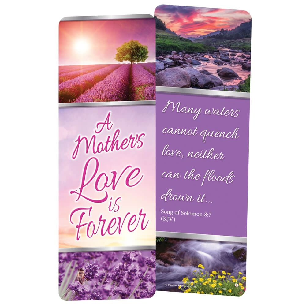 A Mother's Love Is Forever Deluxe Die-Cut Bookmark - Pack of 15