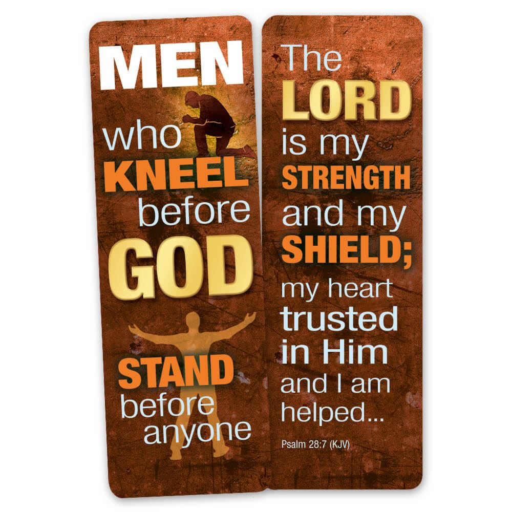 Men Who Kneel Before God Stand Before Anyone Deluxe Bookmark