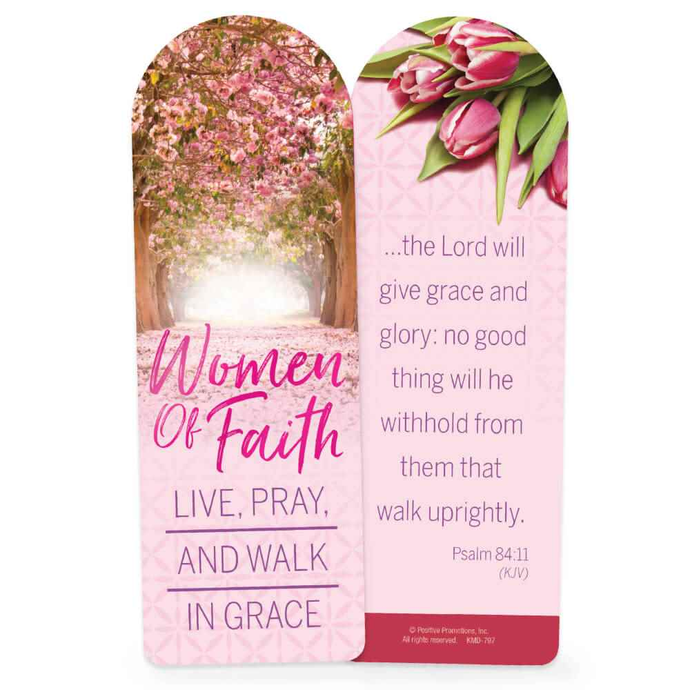 Women Of Faith Live, Pray And Walk In Grace Deluxe Bookmark - Pack of 15