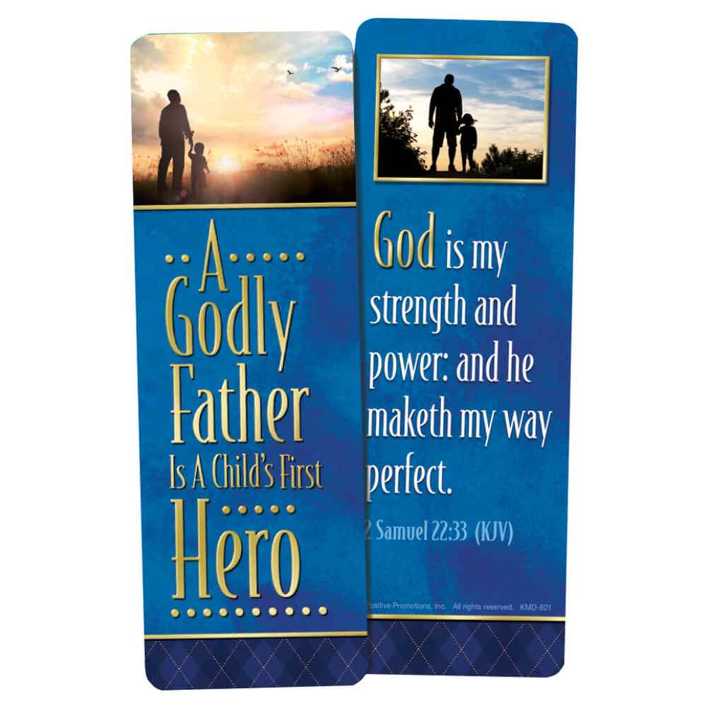 A Godly Father Is A Child's First Hero Deluxe Bookmark