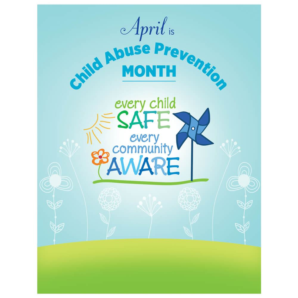 Child Abuse Prevention Month Event Poster - Pack of 5