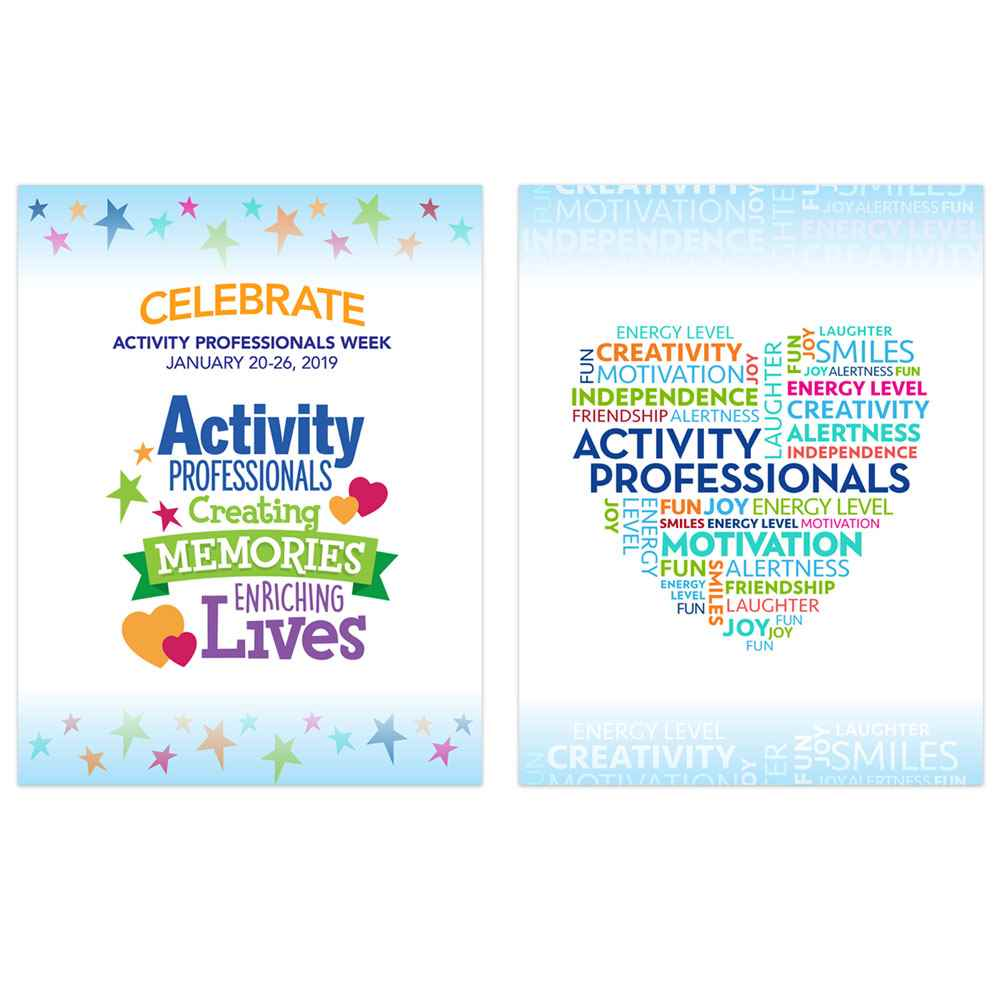 Activity Professionals: Creating Memories, Enriching Lives 2-Sided Event Poster