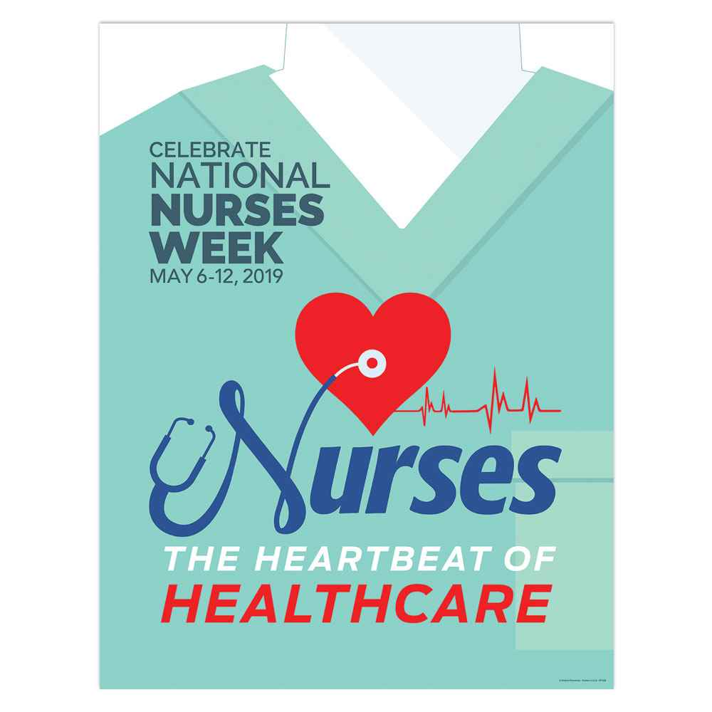 Nurses: The Heartbeat Of Healthcare Nurses Week Event Poster