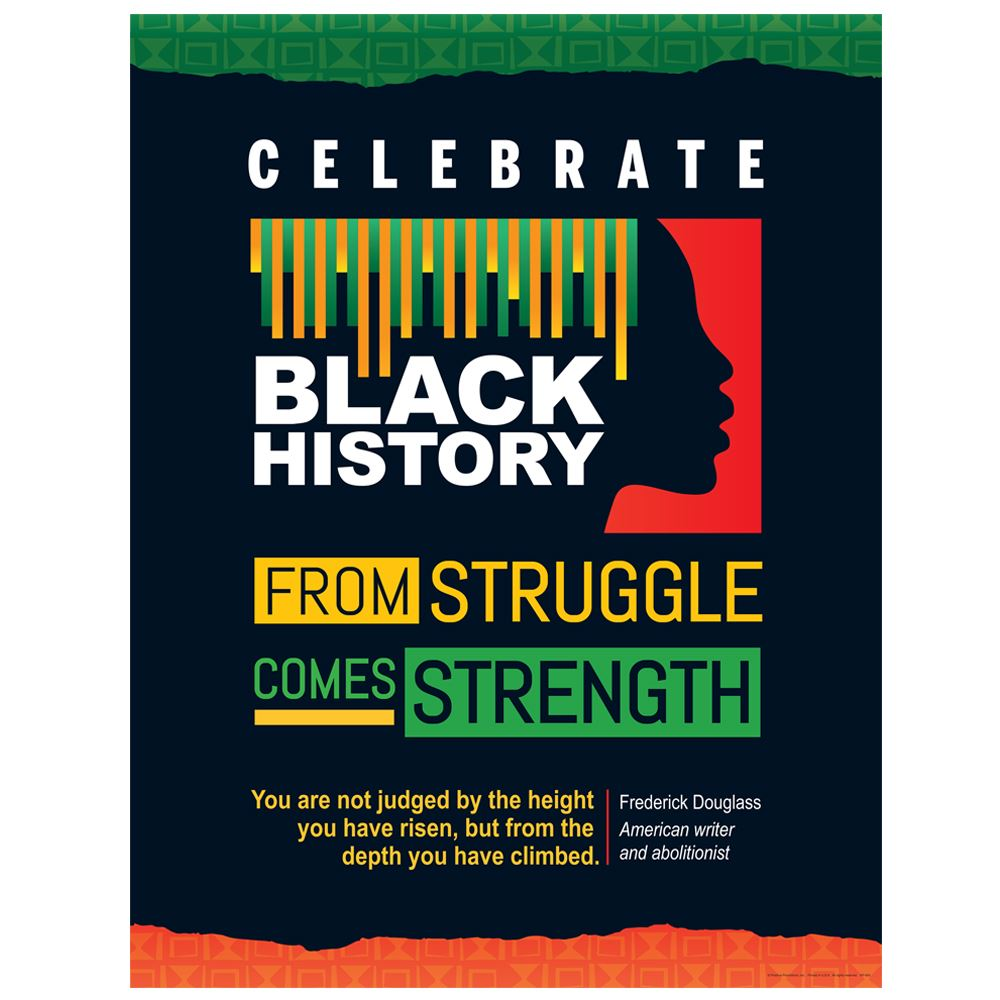 Black History Strong Roots Amazing Achievements Poster