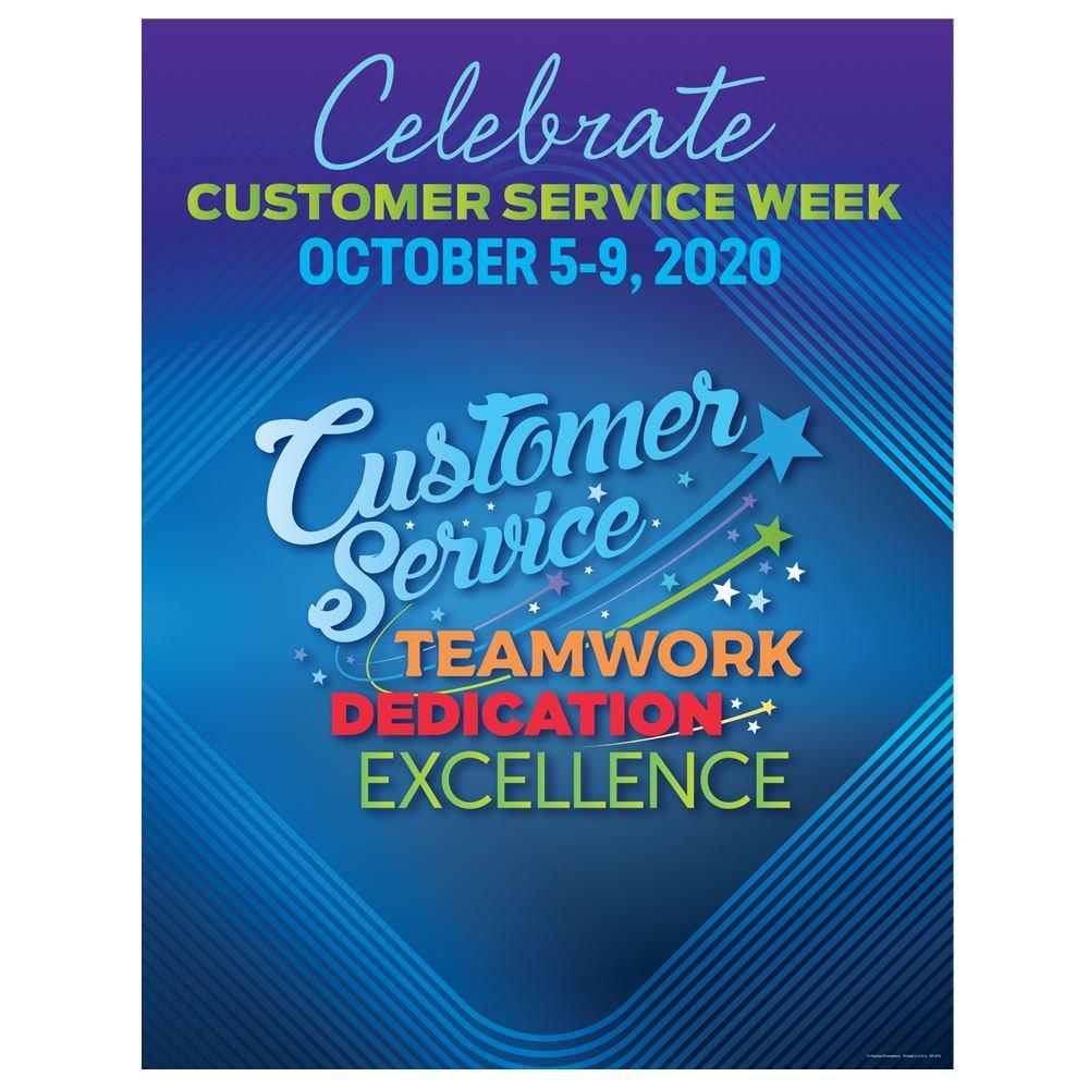 Customer Service: Teamwork, Dedication, Excellence Customer Service Week Event Poster - 5 per pack