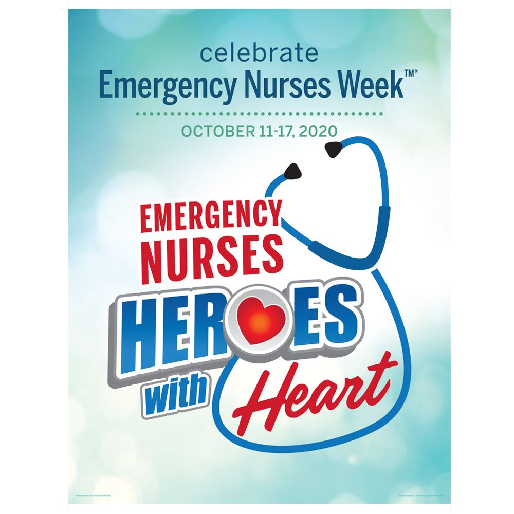 Emergency Nurses: Heroes With Heart Event Week Poster - 5 per pack