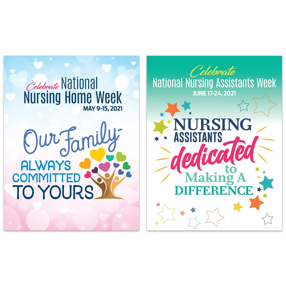 Our Family Always Committed To Yours Nursing Home Week 2-Sided Event Poster - Pack of 5