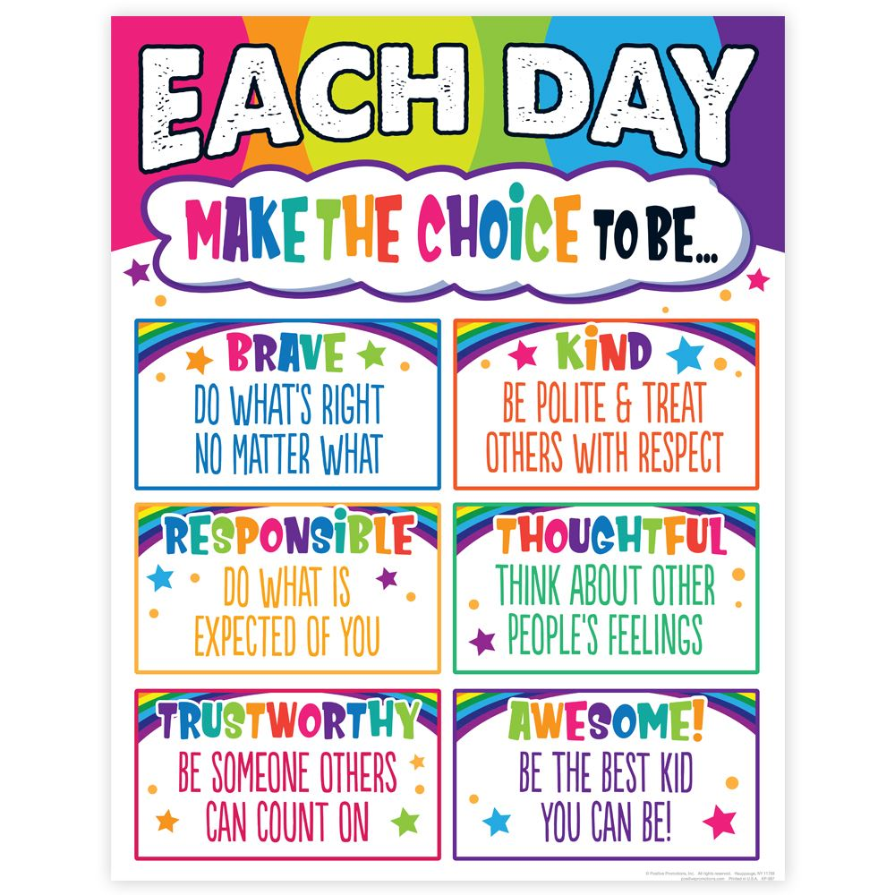 Each Day Make The Choice To Be Event Week Poster - 3 Pack