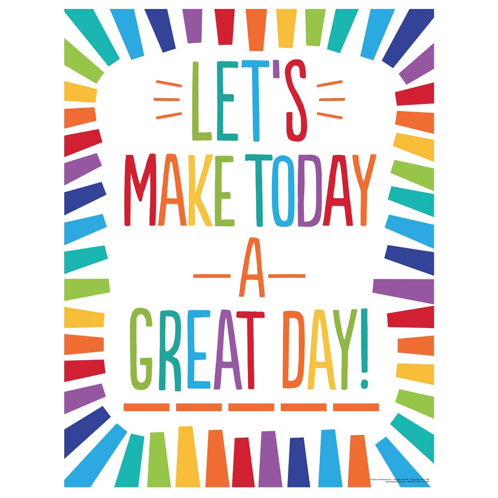 Let's Make Today A Great Day Event Week Poster - 3 Pack