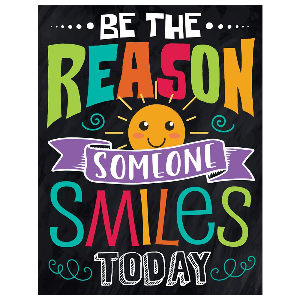 Be The Reason Someone Smiles Today Kindness Posters - Pack of 3
