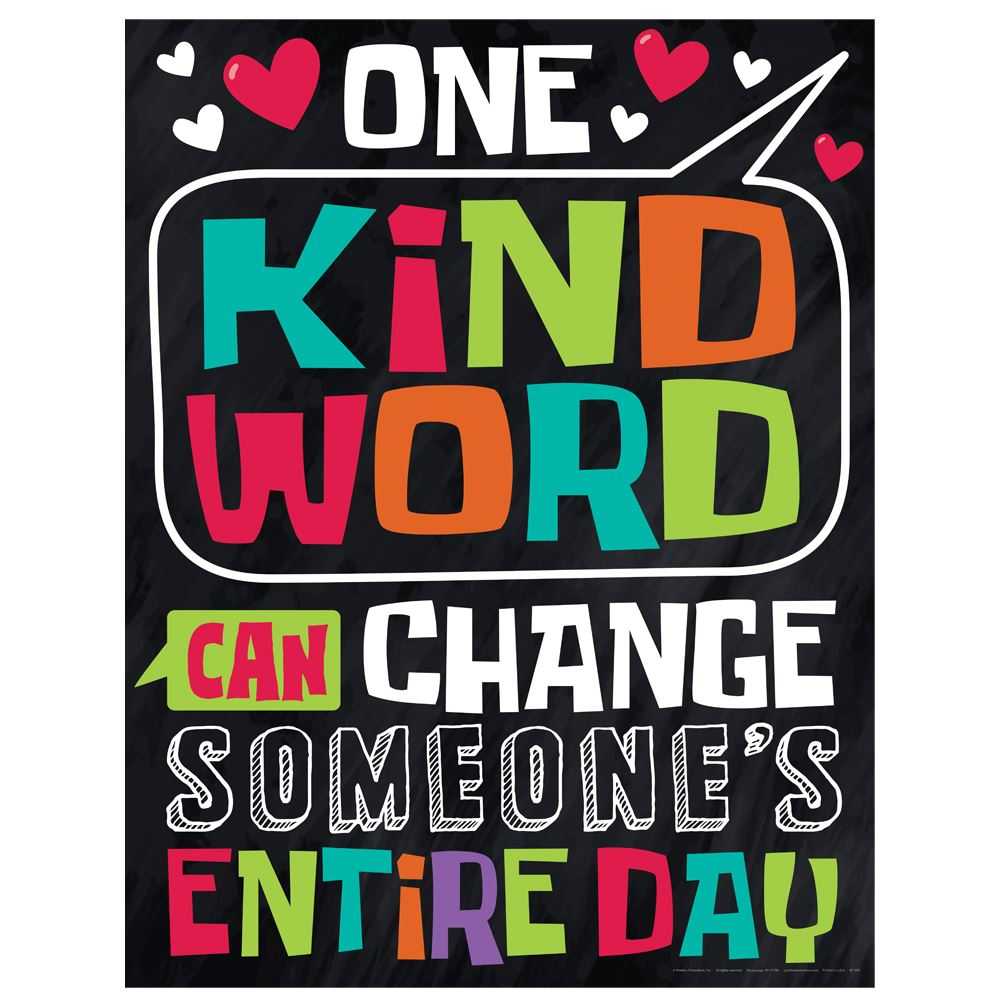 One Kind Word Can Change Someone's Entire Day Kindness Posters - Pack of 3