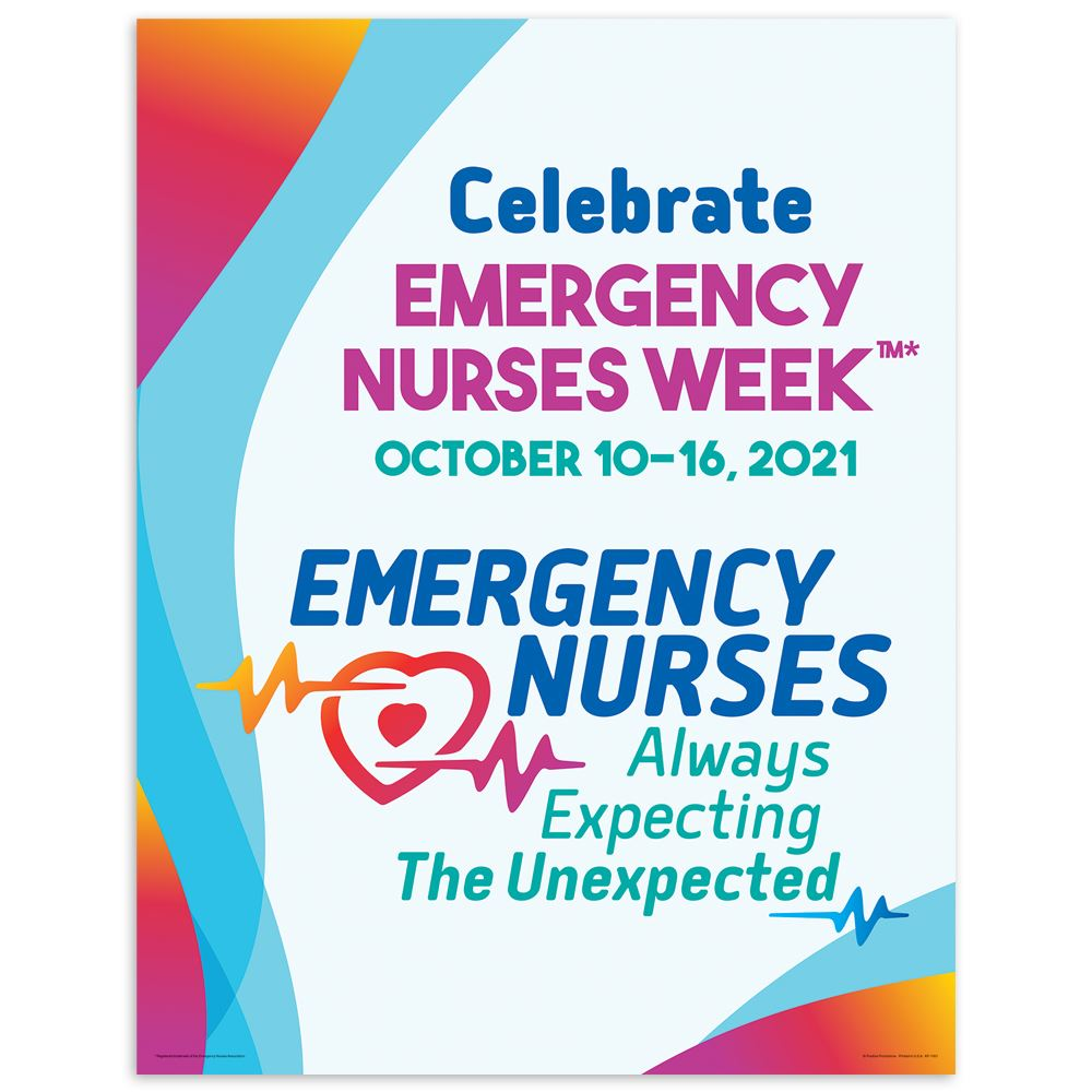 Emergency Nurses: Always Expecting The Unexpected Event Week Poster - Pack of 5