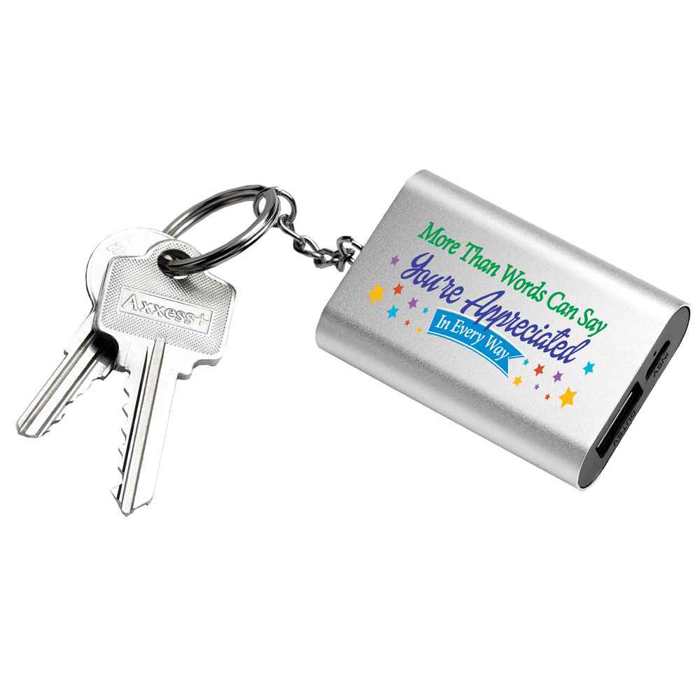 More Than Words Can Say You're Appreciated In Every Way Emergency Power Bank Key Tag