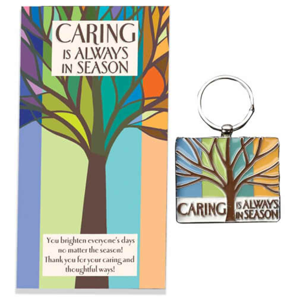 Caring Is Always In Season Enamel Key Tag With Keepsake Card