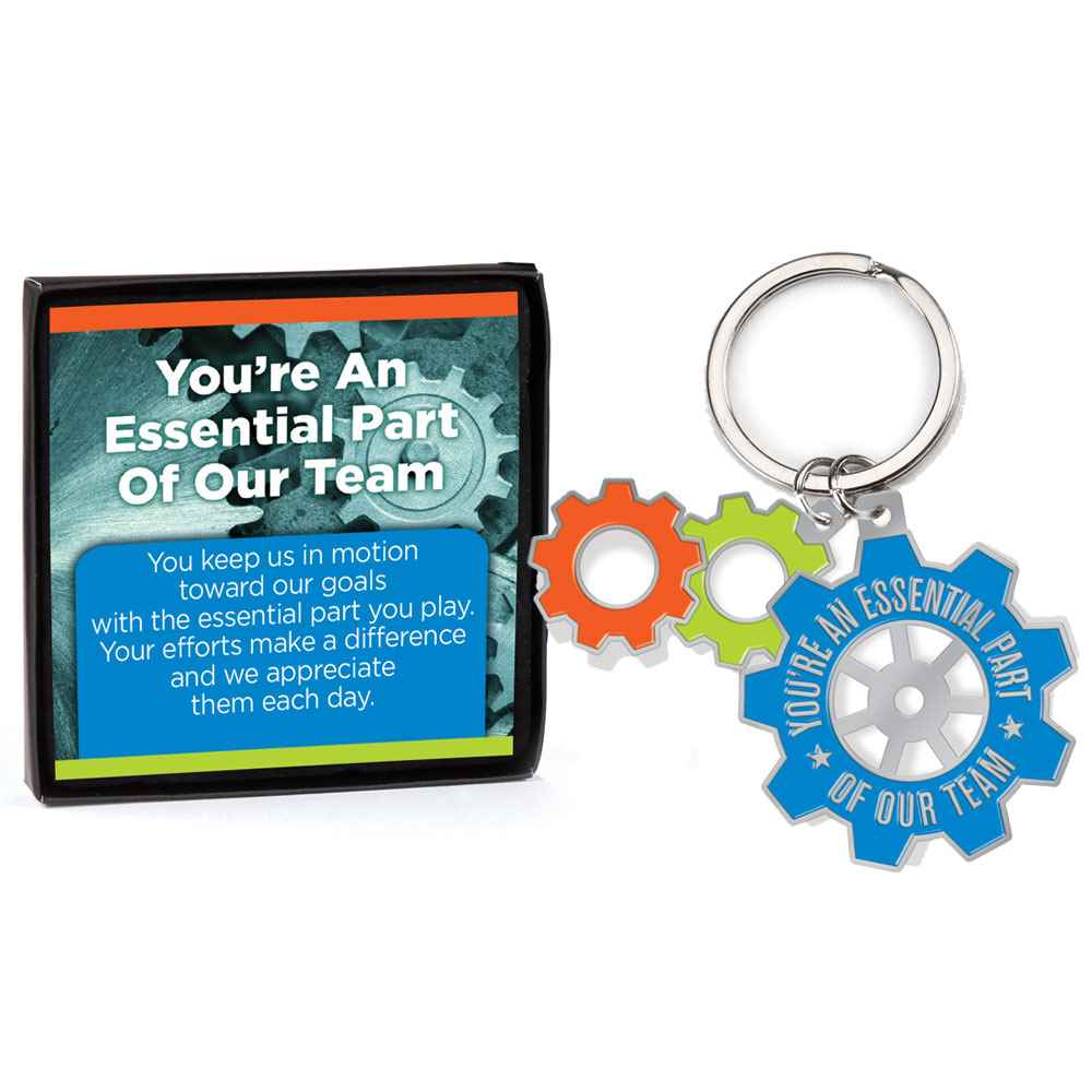 You're An Essential Part Of Our Team Key Tag With Keepsake Card