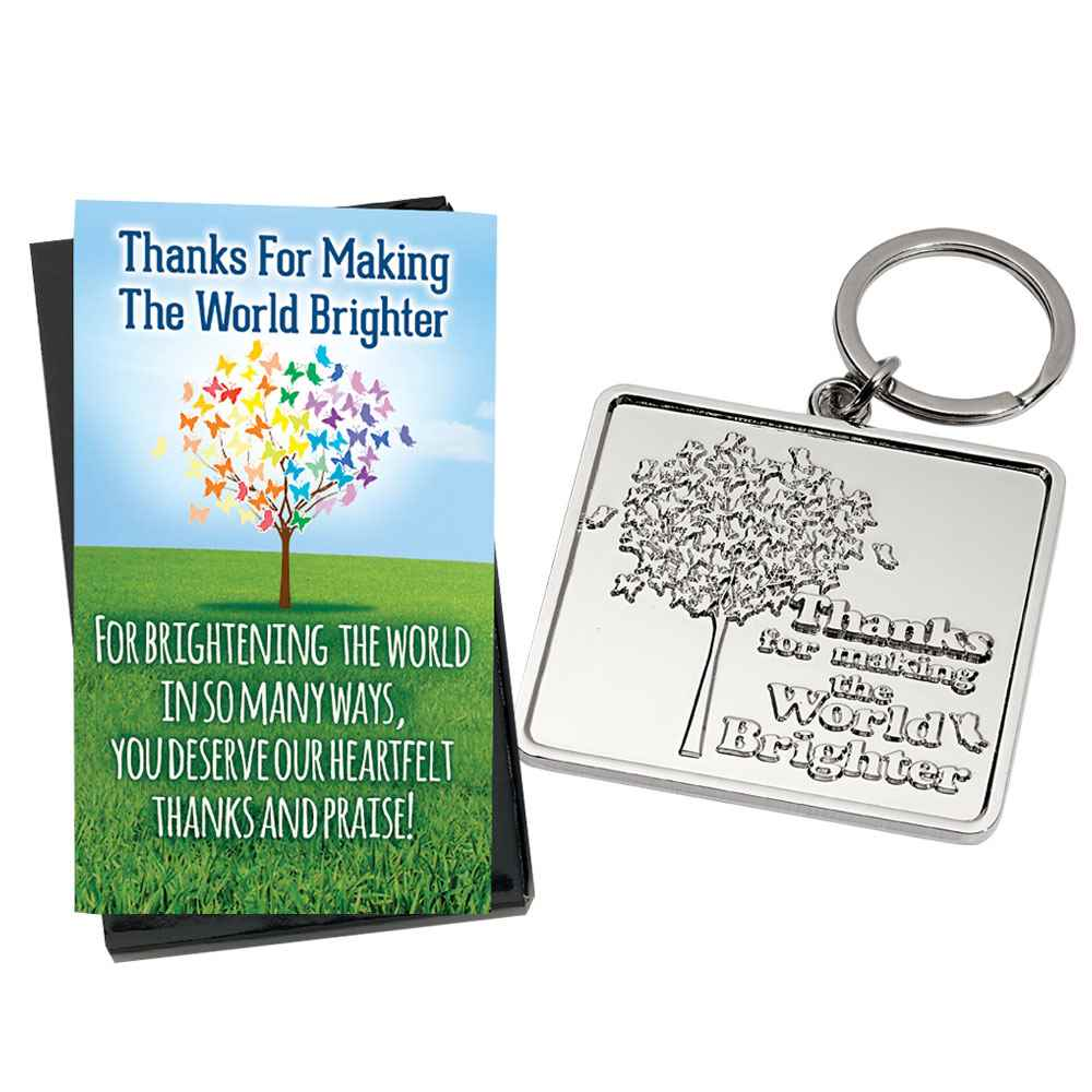 Thanks For Making The World Brighter Key Tag With Keepsake Card