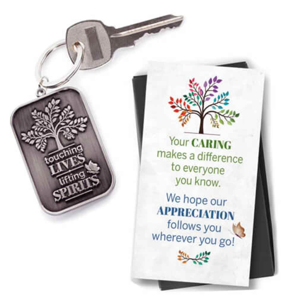 Touching Lives, Lifting Spirits Key Tag with Keepsake Card