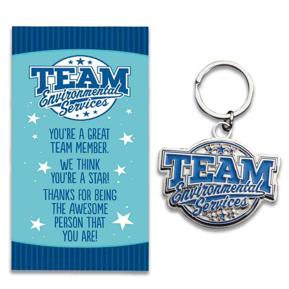 Team Environmental Services Key Tag With Keepsake Card