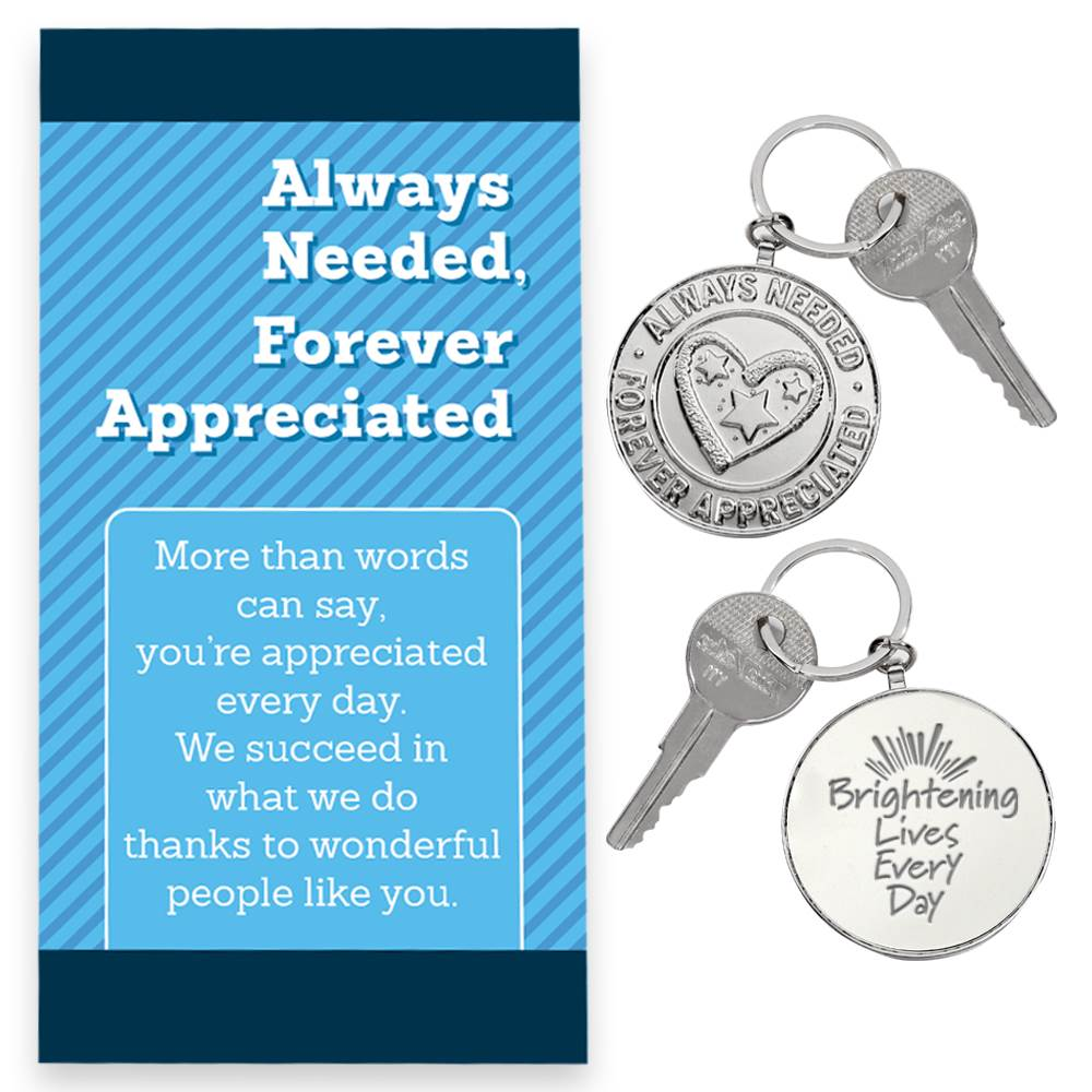 Always Needed, Forever Appreciated Key Tag with Keepsake Card