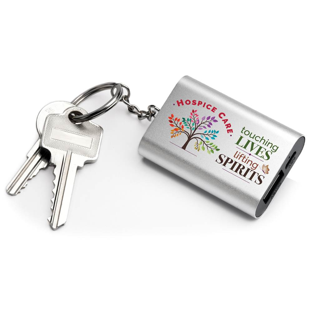 Hospice Care: Touching Lives, Lifting Spirits Emergency Power Bank Key Tag