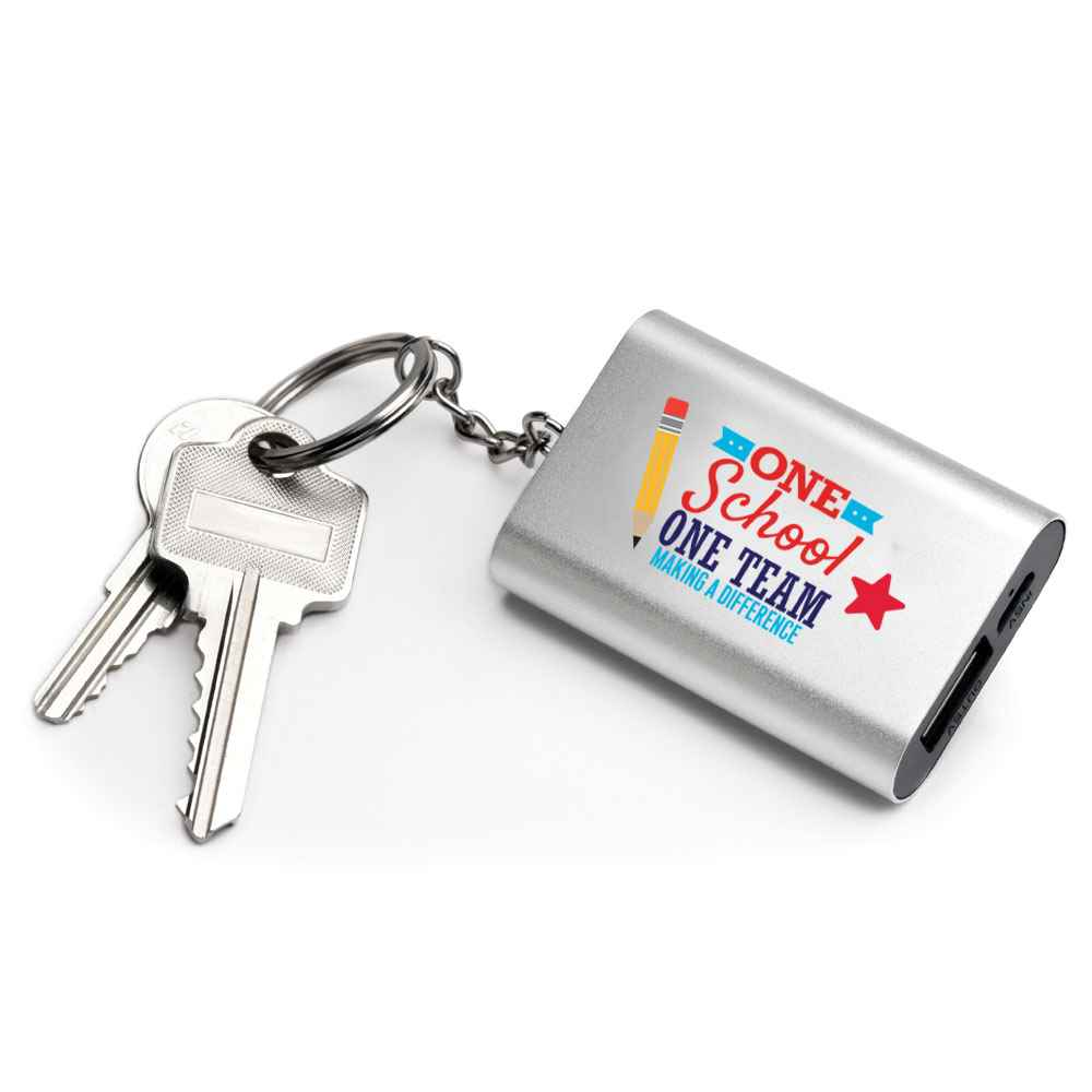 One School, One Team: Making A Difference Power Bank Key Tag