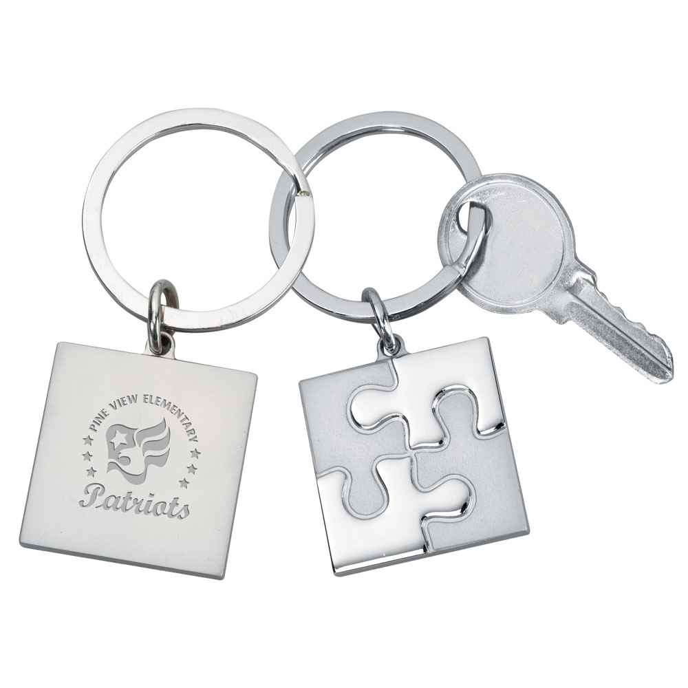 Puzzle Laser-Engraved Key Tag - Personalization Available