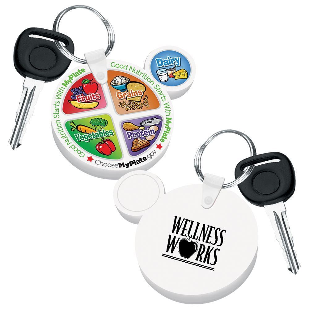 MyPlate Flexi Key Tag - Personalization Available