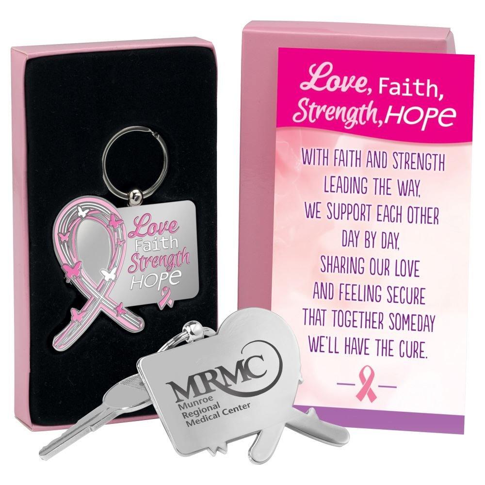 Love, Faith, Strength, Hope Key Tag With Keepsake Card - Personalization Available