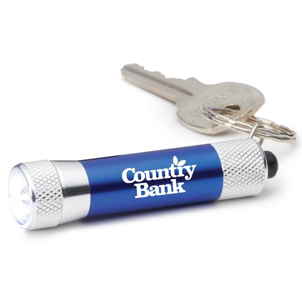 LED Aluminum Flashlight Key Tag - Personalization Available