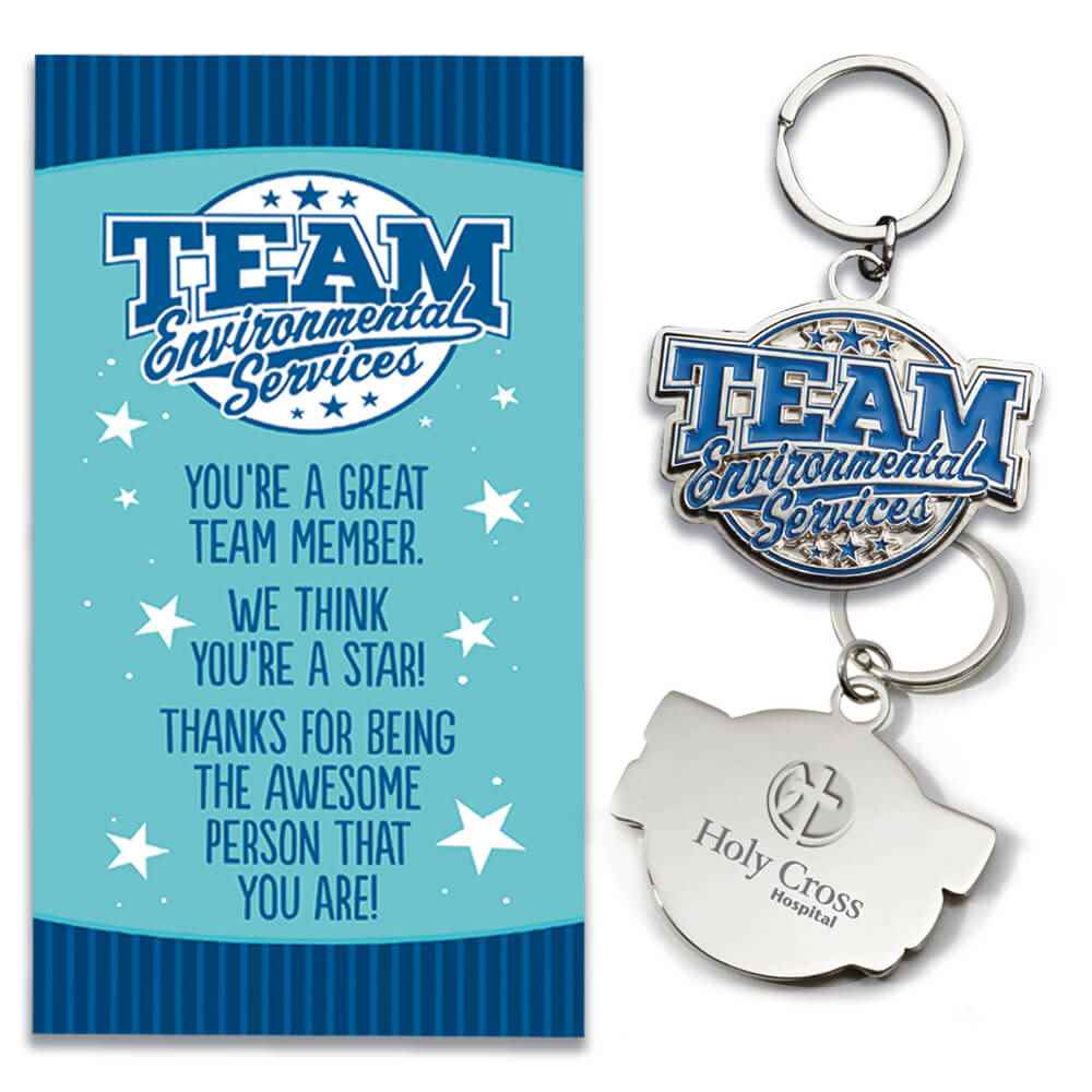 Team Environmental Services Key Tag With Keepsake Card Plus Personalization