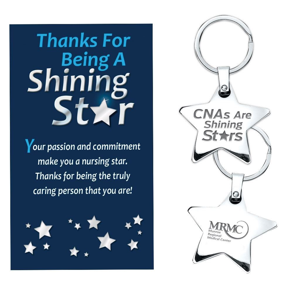 Certified Nurses Are A Shining Stars Star Key Tag Gift Set - Personalization Available