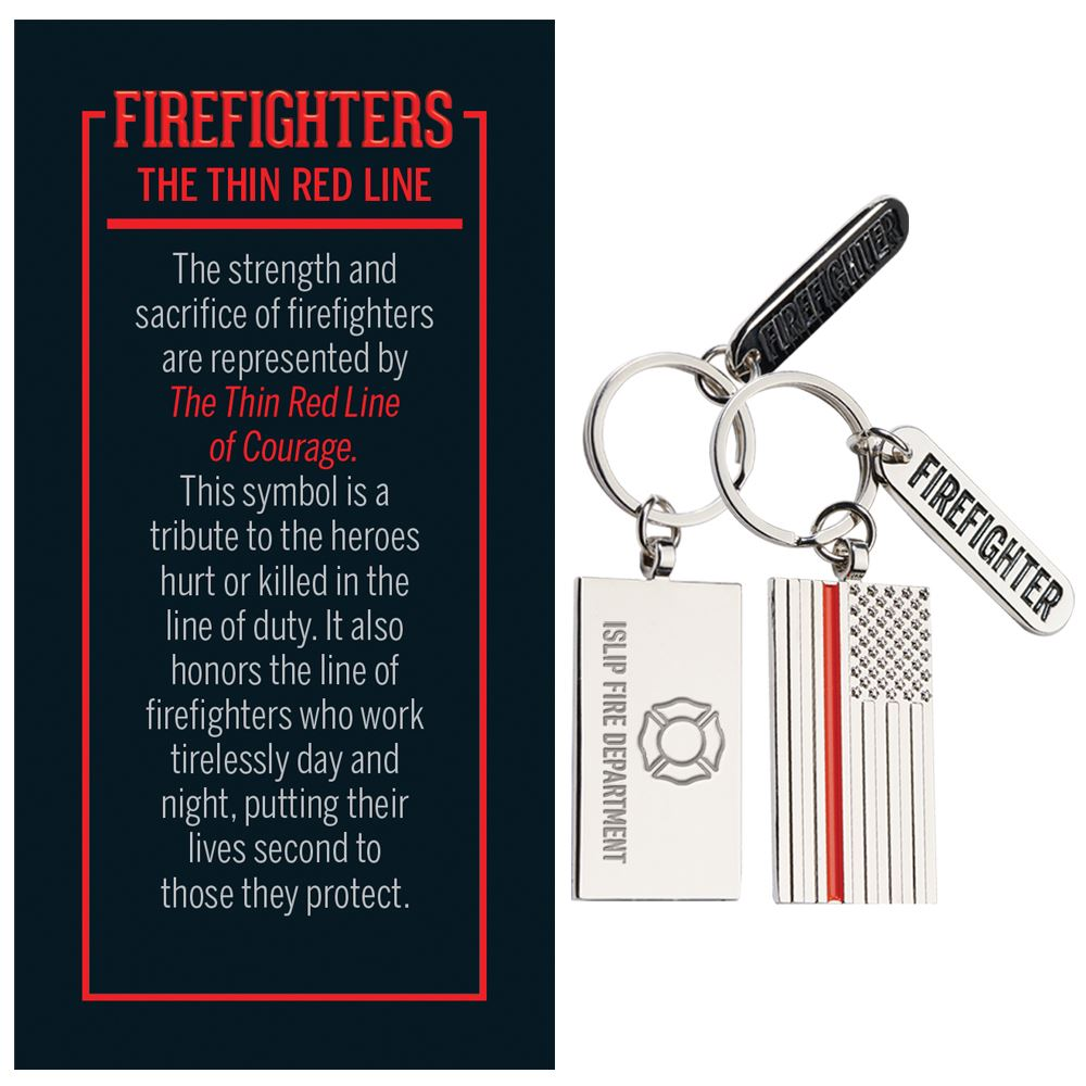 The Thin Red Line Charm Key Tag With Keepsake Card